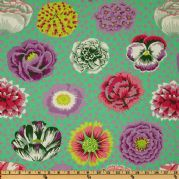 Kaffe Fassett Big Blooms - Green - per quarter metre